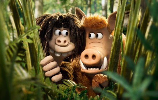Dug and Hognob in a still from Early Man