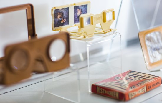 Stereoscopic viewers displayed as part of the Immersion exhibition