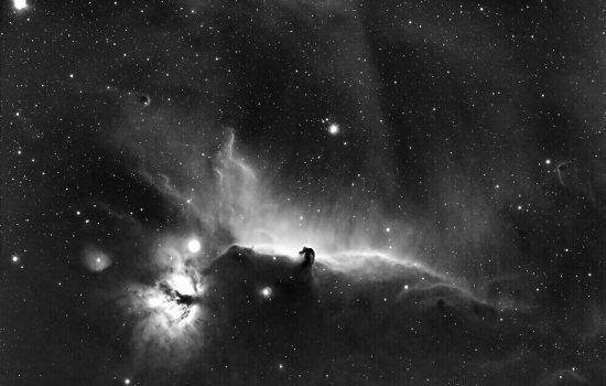 Horsehead nebula plus flame