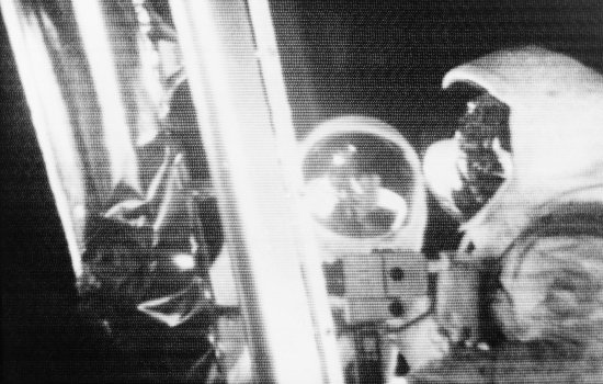 Telecast of Astronauts Armstrong and Aldrin by the Lunar Module