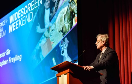 Sir Christopher Frayling speaking at Widescreen Weekend