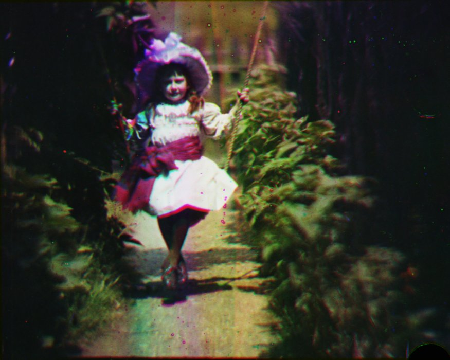 Still from footage recorded by Edward Turner, 1902, National Science and Media Museum collection