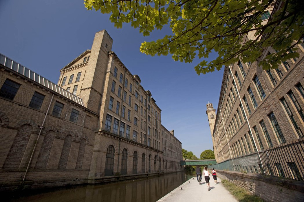 Saltaire, the home of Salts Mill, is a UNESCO World Heritage Site