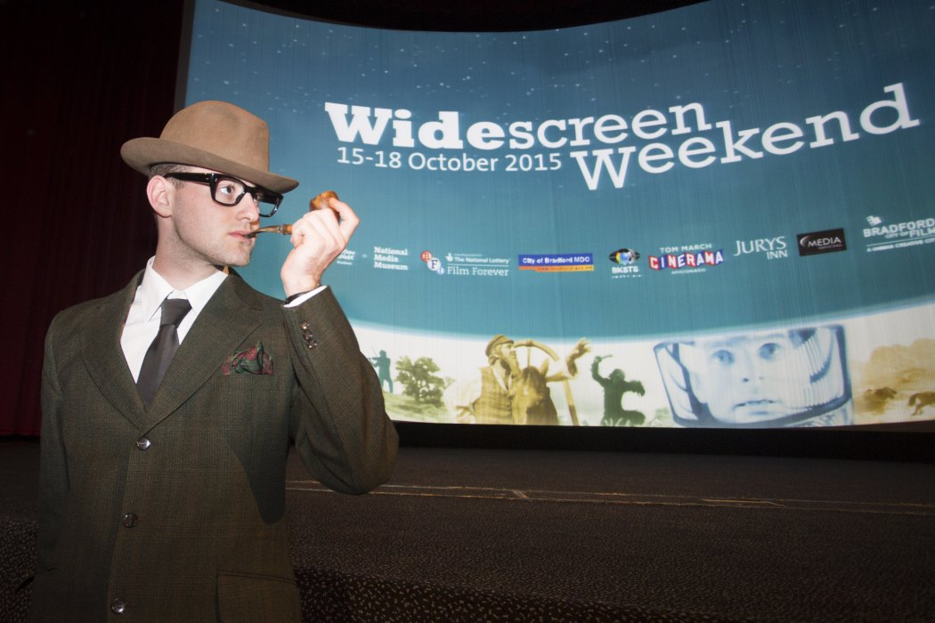A character in costume for our screening of Holiday in Spain (aka Scent of Mystery) at Widescreen Weekend 2015