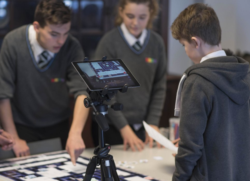 Students during one of the game design workshops at Yorkshire Games Festival 2016