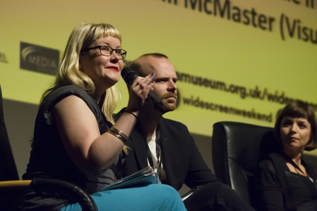 Melanie Iredale of Sheffield DocFest chairs our virtual reality discussion panel at Widescreen Weekend 2016