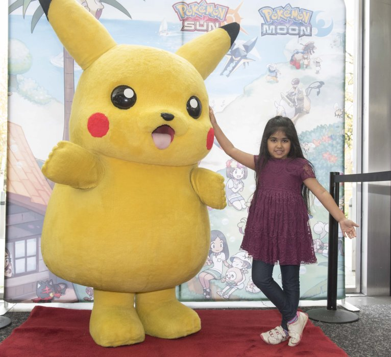 Pikachu makes a special appearance at the Yorkshire Games Festival Family Weekend