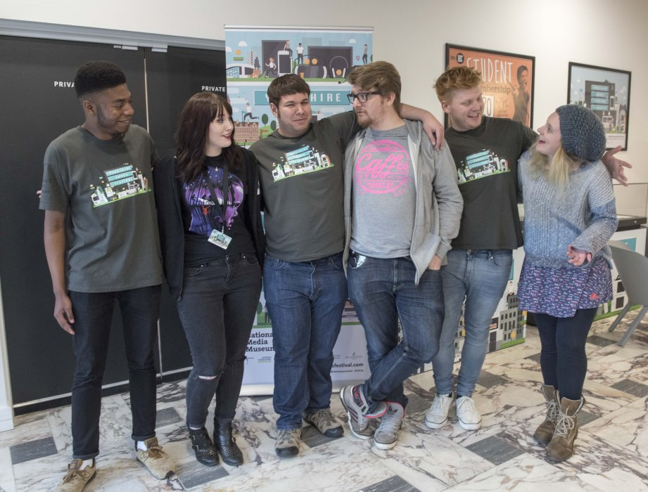 Stars of The Yogscast with festival volunteers at Yorkshire Games Festival 2016