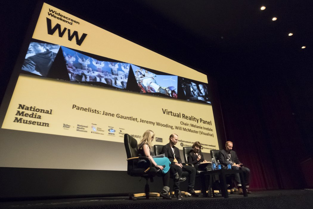 A panel of experts debate the merits and drawbacks of virtual reality cinema at Widescreen Weekend 2016
