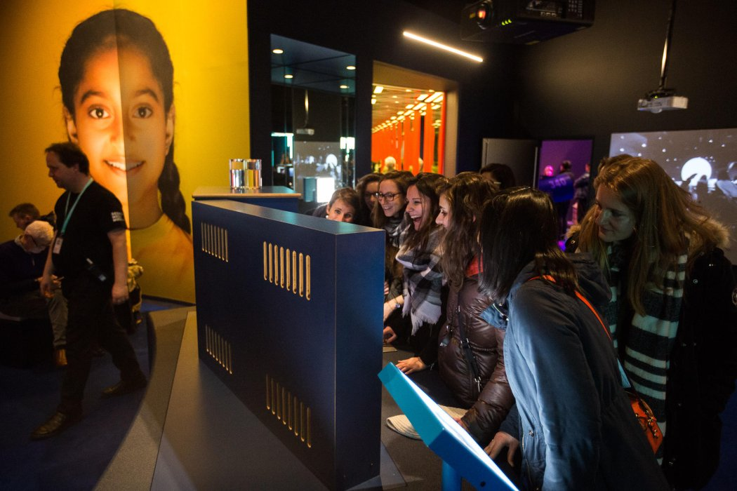 Visitors in Wonderlab at the National Science and Media Museum, Bradford