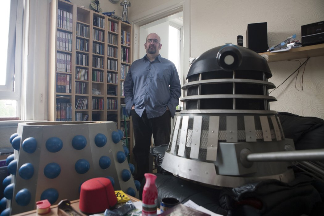 Doctor Who superfan Colin Young photographed by Paul Floyd Blake