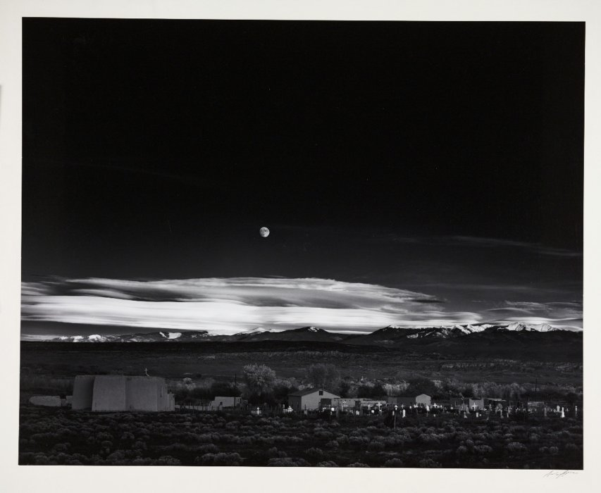 Moonrise, Hernandez, New Mexico, 1941, Ansel Adams ©​ The Ansel Adams Publishing Rights Trust​, The Royal Photographic Society Collection