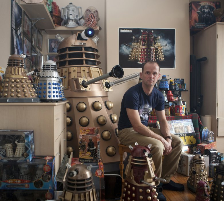 Doctor Who superfan David Knill photographed by Paul Floyd Blake