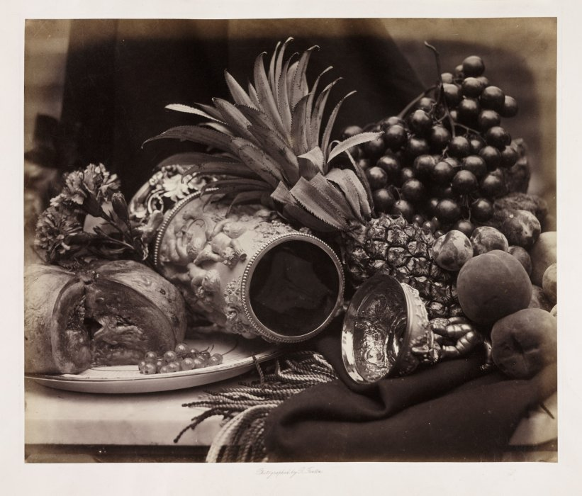 Still Life with Ivory Tankard and Fruit, c.1860, Roger Fenton, The Royal Photographic Society Collection