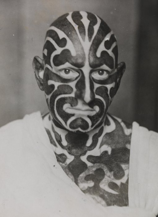 Tattooed from Head to Foot, 1934, Daily Herald Archive