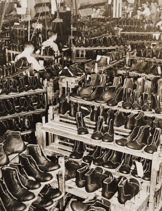 2,000,000 Pairs of Service Boots in the Making, 1939, Unknown, The Daily Herald Archive © Science Museum Group collection