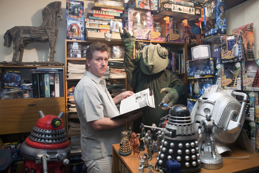 Doctor Who superfan David Howe photographed by Paul Floyd Blake