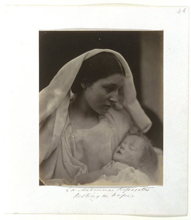 La Madonna Riposta, Resting In Hope, c.1864, Julia Margaret Cameron © Science Museum Group collection