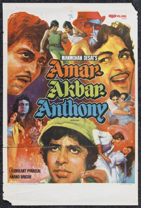 Amar Akbar Anthony featuring Amitabh Bachchan and Rishi Kapoor, 1977, Manmohan Desai, Science Museum Group collection