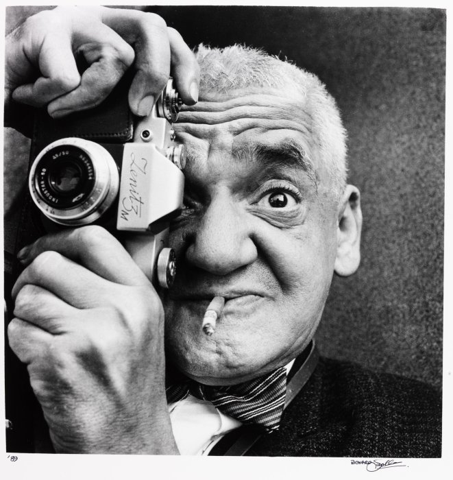 Weegee in Coventry, 1963, Richard Sadler © Science Museum Group collection, courtesy of Richard Sadler