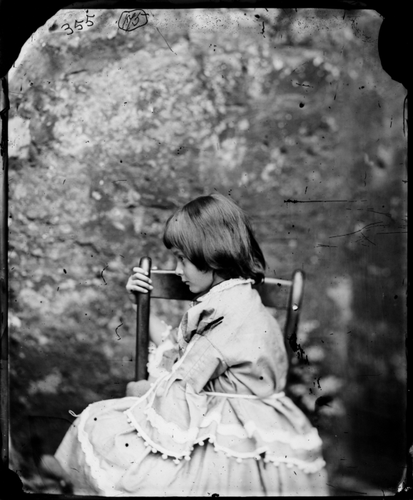 Alice Liddell in profile, facing right, 1858, Lewis Carroll © Science Museum Group collection