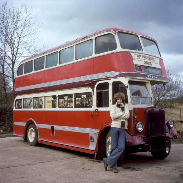 Daniel Meadows and his bus, a 1947 Leyland Titan PD1, the Free Photographic Omnibus © 1974