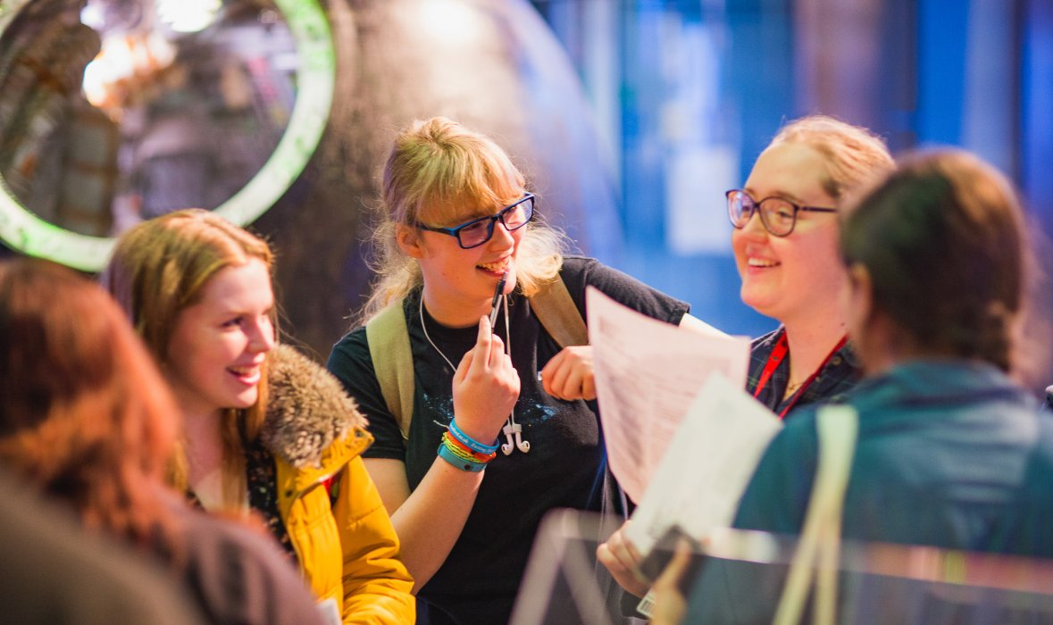 Visitors at a Lates event at the National Science and Media Museum