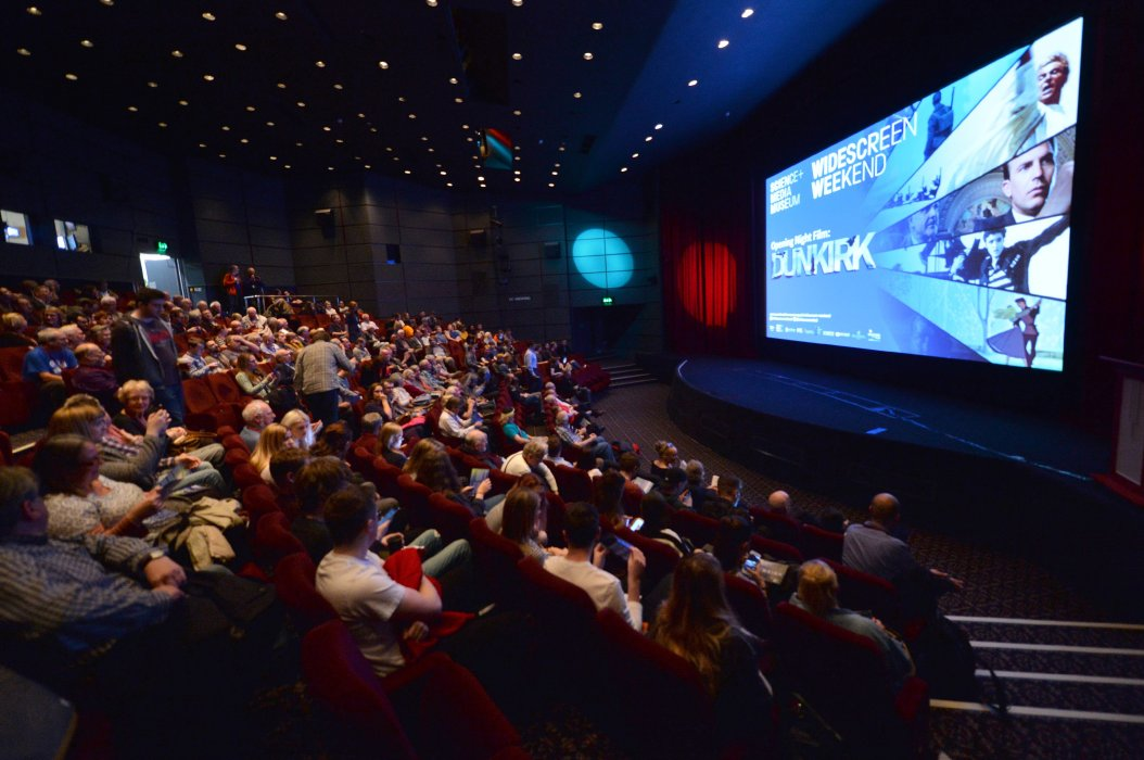 The audience settles in for Dunkirk, the opening night film at Widescreen Weekend 2017