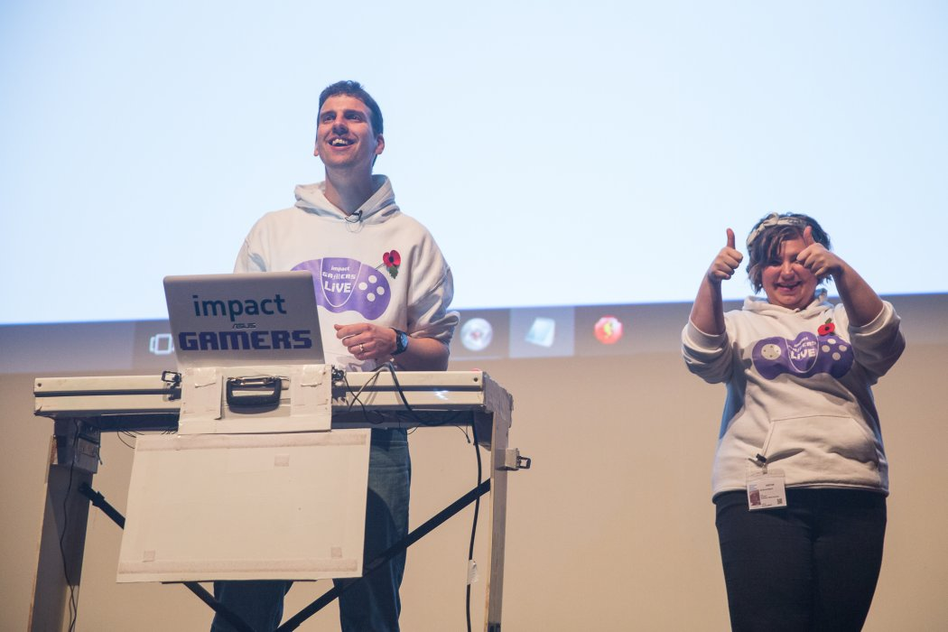 Presenters of Impact Gamers LiVE on stage