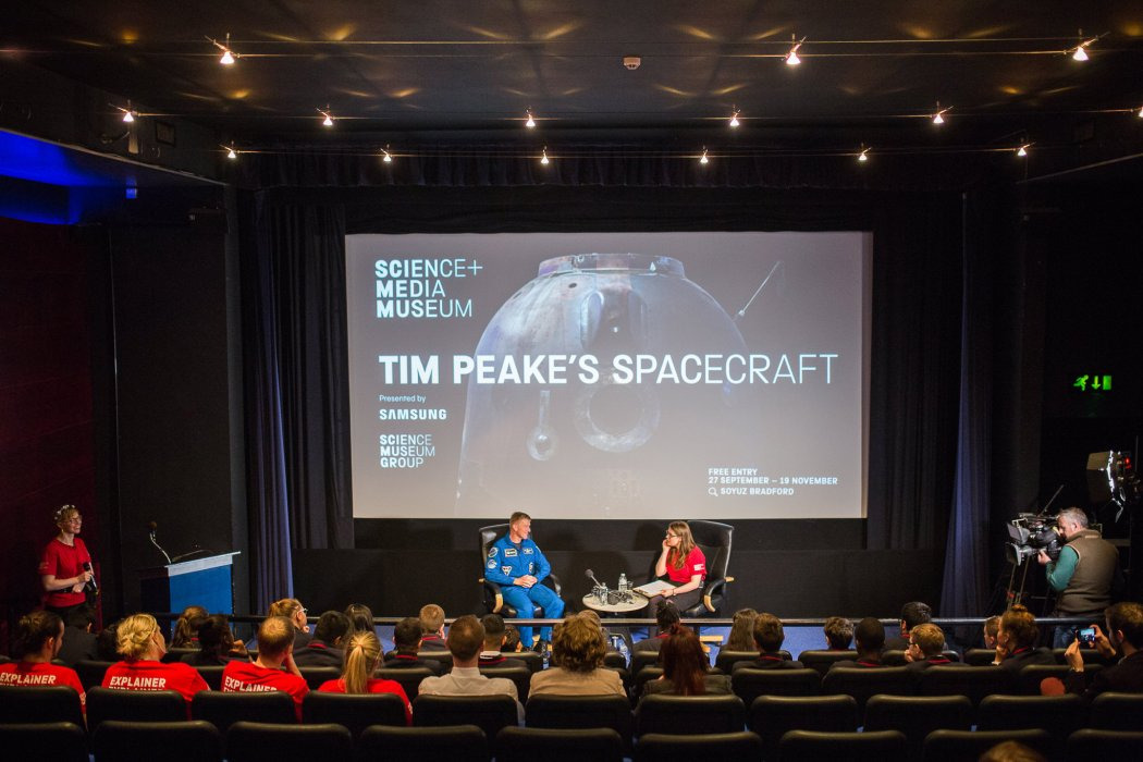 Q&A event with astronaut Tim Peake in Cubby Broccoli Cinema
