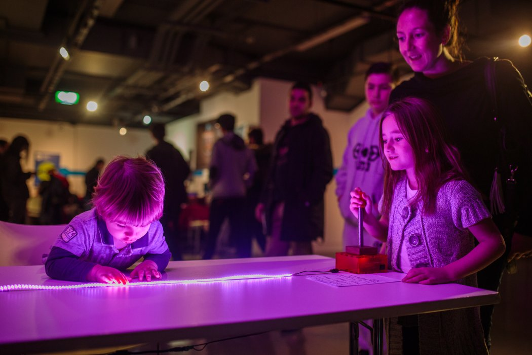Young visitors playing games at Yorkshire Games Festival