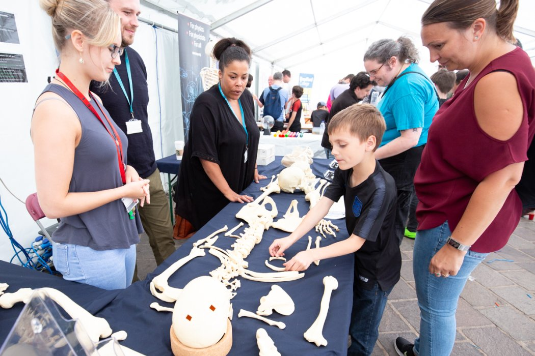 Bradford Science Festival activities in City Park