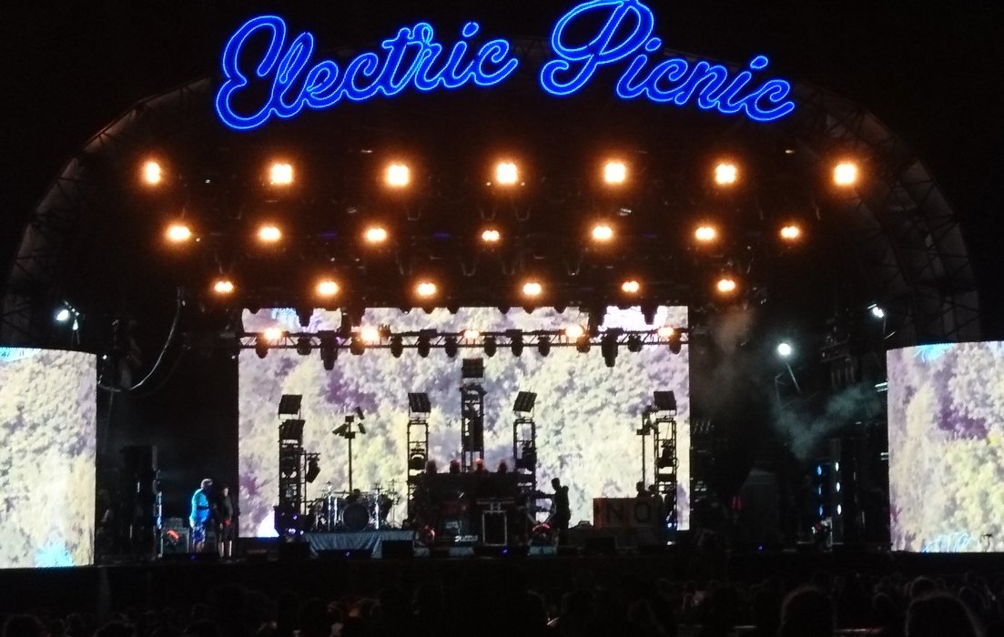 Setting up stage for The Prodigy at Electric Picnic