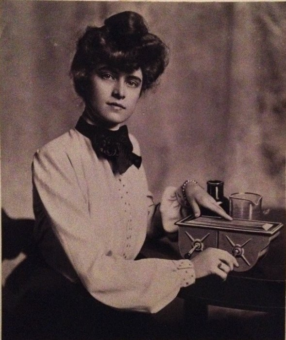 Photograph showing a female photographer, undated, Kodak Collection © Science Museum Group collection
