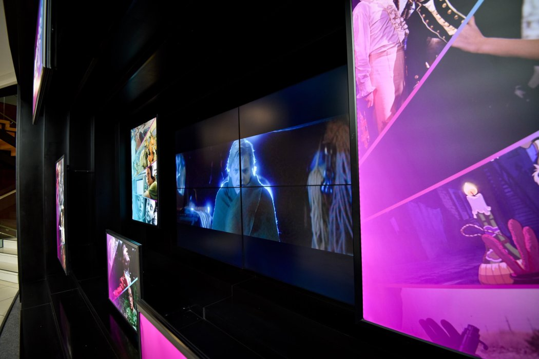 Widescreen Weekend trailer and stills on display in the museum foyer