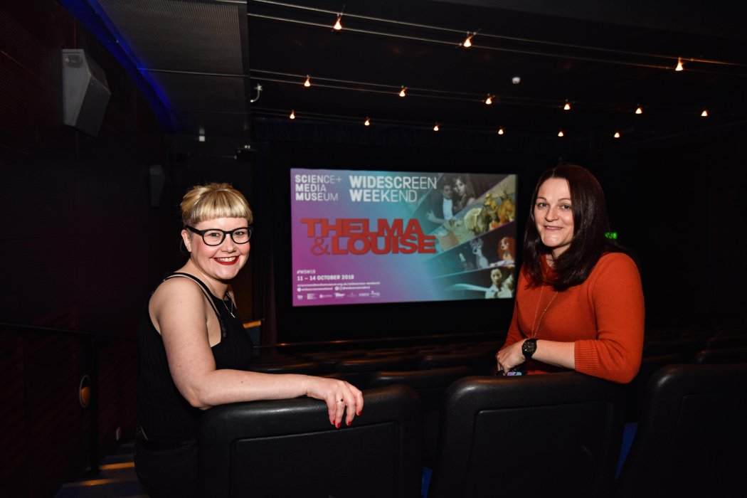 Melanie Iredale and Annabel Grundy in Cubby Broccoli Cinema