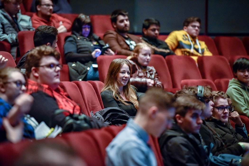 Audience members at Yorkshire Games Festival 2019