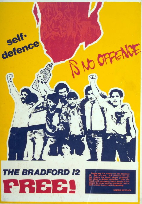 Poster marking the acquittal of the Bradford 12, 1982