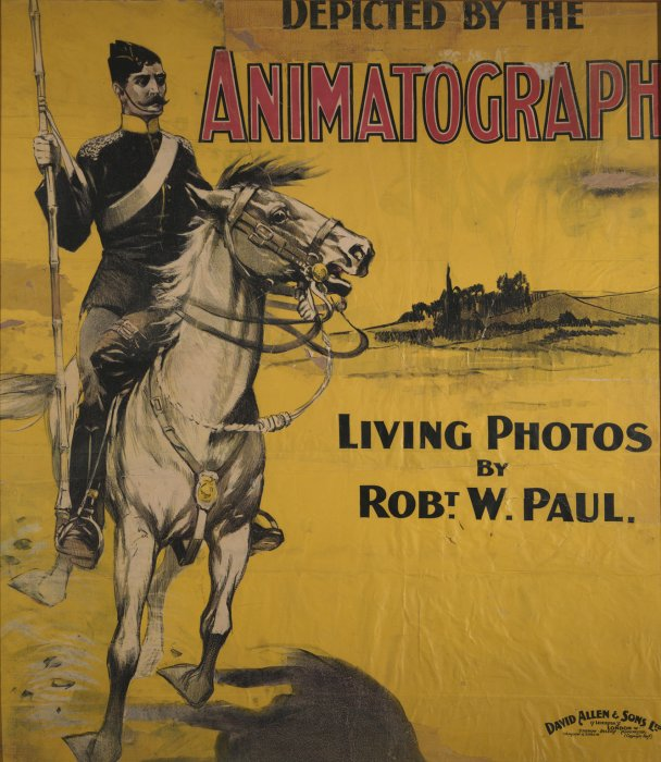 Poster advertising R W Paul's Living Pictures