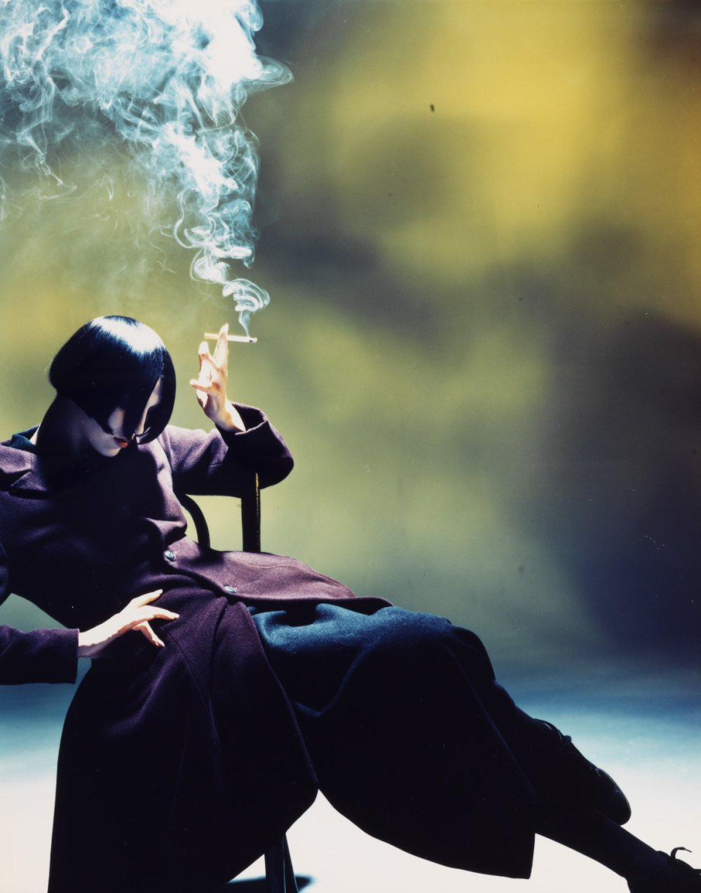 Suzie Smoking, 1988, by Nick Knight