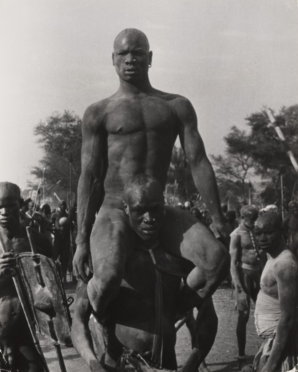 The Wrestlers, Kordofan, Sudan, 1949, by George Rodger