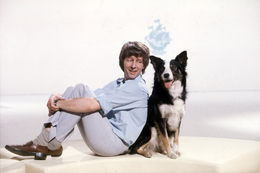 John Noakes with his on-screen companion Shep, c.1975, courtesy of BBC