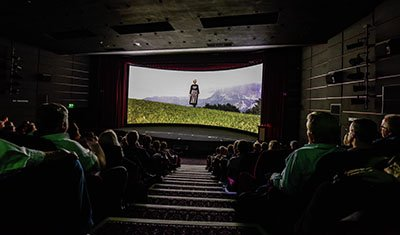 Screening of The Sound of Music in 70mm on the curved screen in Pictureville Cinema as part of Widescreen Weekend, 2019