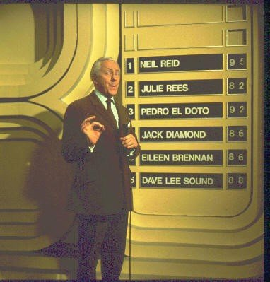 Presenter Hughie Green on Opportunity Knocks